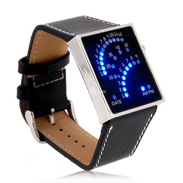 Fan-like Display LED Watch (Black)