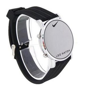 Portable Stainless Steel LED Wrist Watch (Silver)