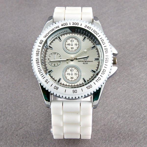 6230 Portable Fashionable Men's Wrist Watch (White)