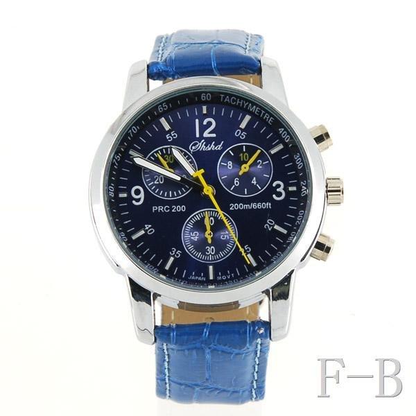 8077 Fashionable Quartz Wrist Watch (Blue)