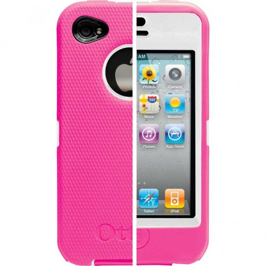 OTTERBOX DEFENDER CASE IPHONE 4 PINK WHITE