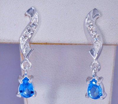 Blue Gemstone Earrings JE 0049