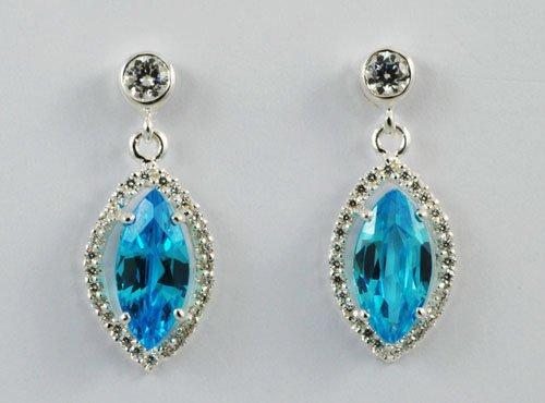 Blue Gemstone Earring JE 0042