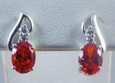 Red Gemstone Earring JE 0044