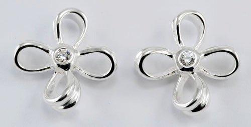 Flower Silver Earrings JE 0058