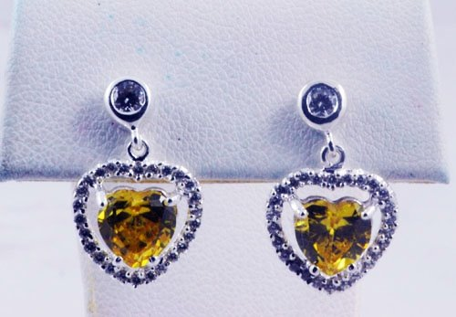 Heart Pattern With Diamond Earrings JE 0066