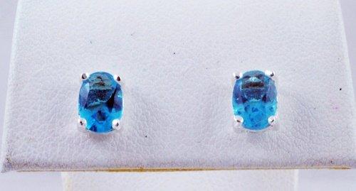 Oval Gemstone Earrings JE 0056