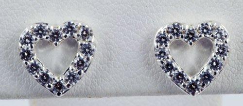 Diamond Heart Pattern Earrings JE 0024