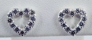 Diamond Heart Pattern Earrings JE 0024
