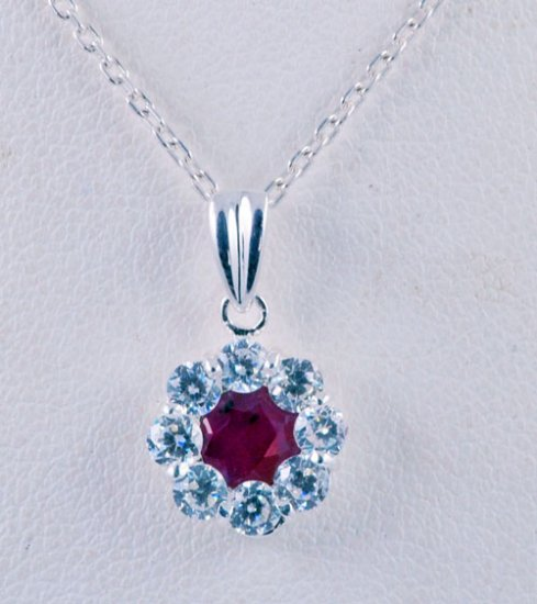 Gemstone Diamond Pendant JP 0018
