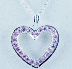 Heart Diamond Pendant JP 0026
