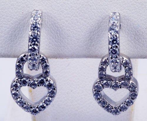 Diamond Earrings Heart Pattern JE 0007