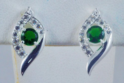 Sapphire Diamond Earrings JE 0003