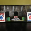 Bicycle Playing Cards Bar Glass Gift Set with 2 decks, NEW and SEALED!