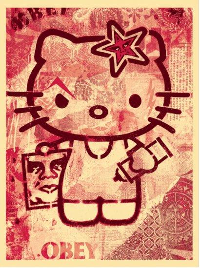 Shepard Fairey Prints Hello Kitty Pink