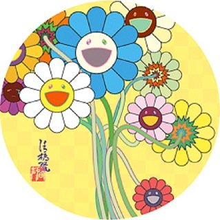 Takashi Murakami Prints Gold Flowers
