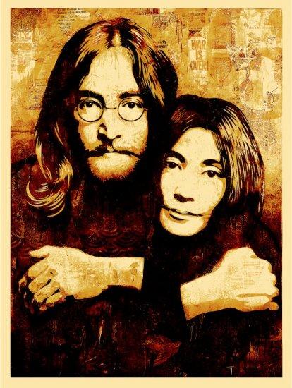 Shepard Fairey Prints John Lennon & Yoko Ono