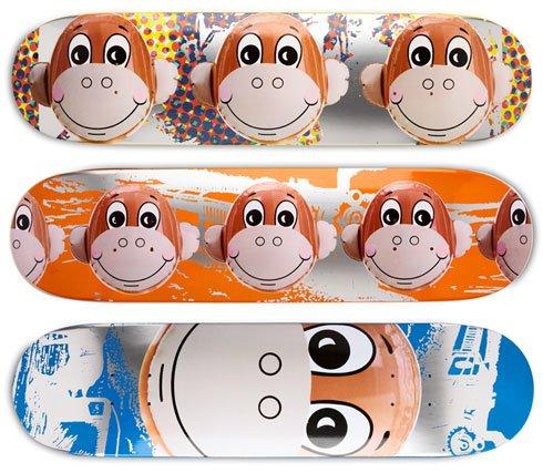 Jeff Koons Monkey Train Skate Deck Set of 3