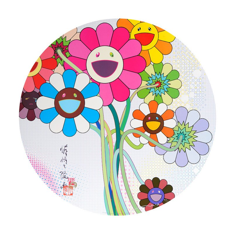 Takashi Murakami Prints Even The Digital Realm Has Flowers