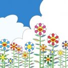Takashi Murakami Prints Flowers and Blue Skies