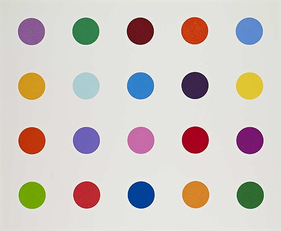 Damien Hirst Print Spot Signed Limited Edition (Horizontal)