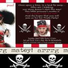 PIRATE Aye Matey birthday party Invitations Skulls Boy Girl