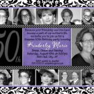 50th Birthday Party Photo INVITATIONS 21st, 30th, 40th, 60th