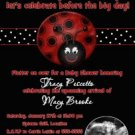 LADYBUG LADY BUG Ultrasound Photo Baby Shower Invitation
