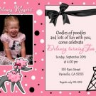 Photo PINK POODLE PARIS OH LA LA Birthday Invitations