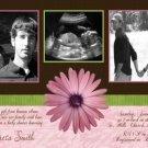 Girl Pink Brown Ultrasound Sonogram Photo Baby Shower Invitation