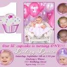 LIL' CUPCAKE CUPCAKES PURPLE BIRTHDAY INVITATIONS
