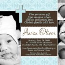Boy Baptism Communion Christening Invitation Announcement Photo