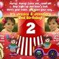 CIRCUS CARNIVAL BOY GIRL PHOTO BIRTHDAY INVITATION
