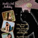HOLLYWOOD CELEBRITY PARTY BIRTHDAY INVITATIONS