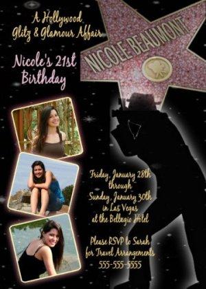 Celebrity Birthday Invitations | Zazzle