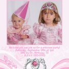 PRINCESS CROWN TIARA Birthday Party Photo Invitation