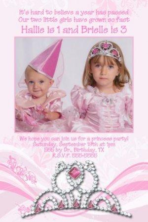 PRINCESS CROWN TIARA Birthday Party Photo Invitation