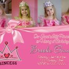 BOUTIQUE PRINCESS CROWN TIARA Birthday Party Photo Invitation