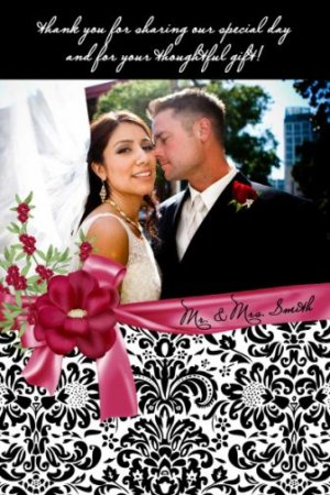 Wedding Save the Date Thank You Card Invitation Engagement Party