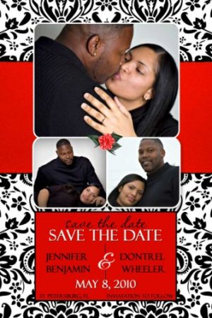 100 Large Postcard Save the Date MAGNETS Wedding Thank You Card