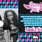 Monster High Thank You Cards or Birthday Invitations