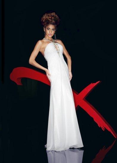 Xcite Prom 3747 Halter Empire Chiffon Evening Dress