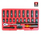"24 Pcs 1/4"" Dr. Hi-Viz Impact Socket & Accessory Set Metric - Nk # 02466A"
