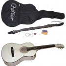 """38"""" White Acoustic Guitar With Accessories - GA3810R-WH"""