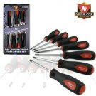 7 Pcs S/Dr Hex Bolster Tamper Proof Star Driver Set - Nk # 01360B