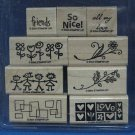 STAMPIN UP 2004 SMORGASBORDERS STAMPS SET 9 RETIRED