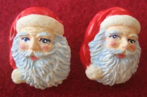 Christmas Santa Claus Novelty Pierced Earrings New