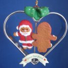 Bless Home Gingerbread Cookies Heart Christmas Ornament