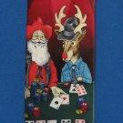 Santa Rudolph Texas Holdem Poker Xmas Necktie Tie Silk