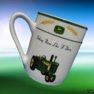 JOHN DEERE TRACTOR AMBER WAVES  COFFEE MUG CUP MINT